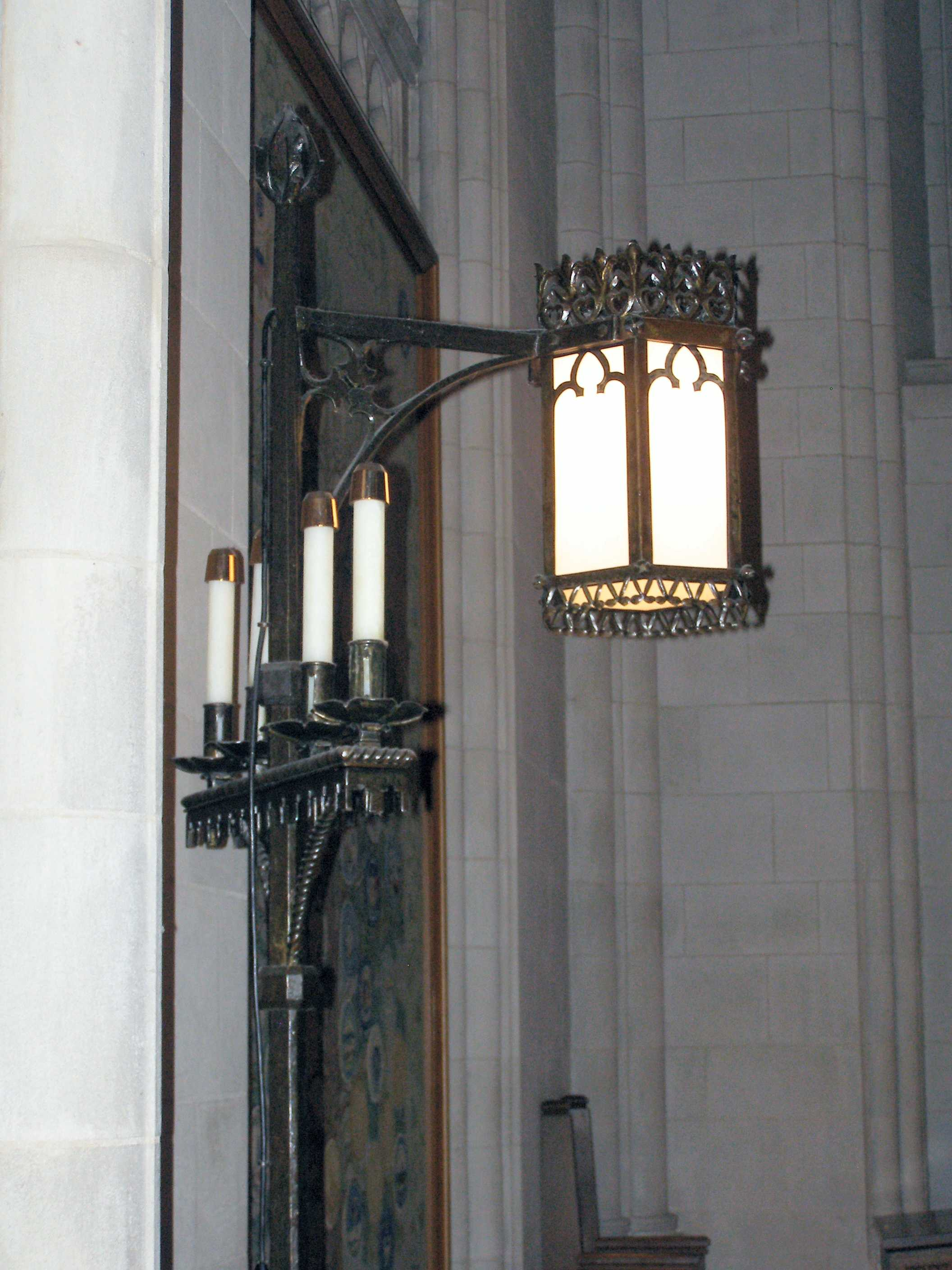 Light and Candelabra by Samuel Yellin