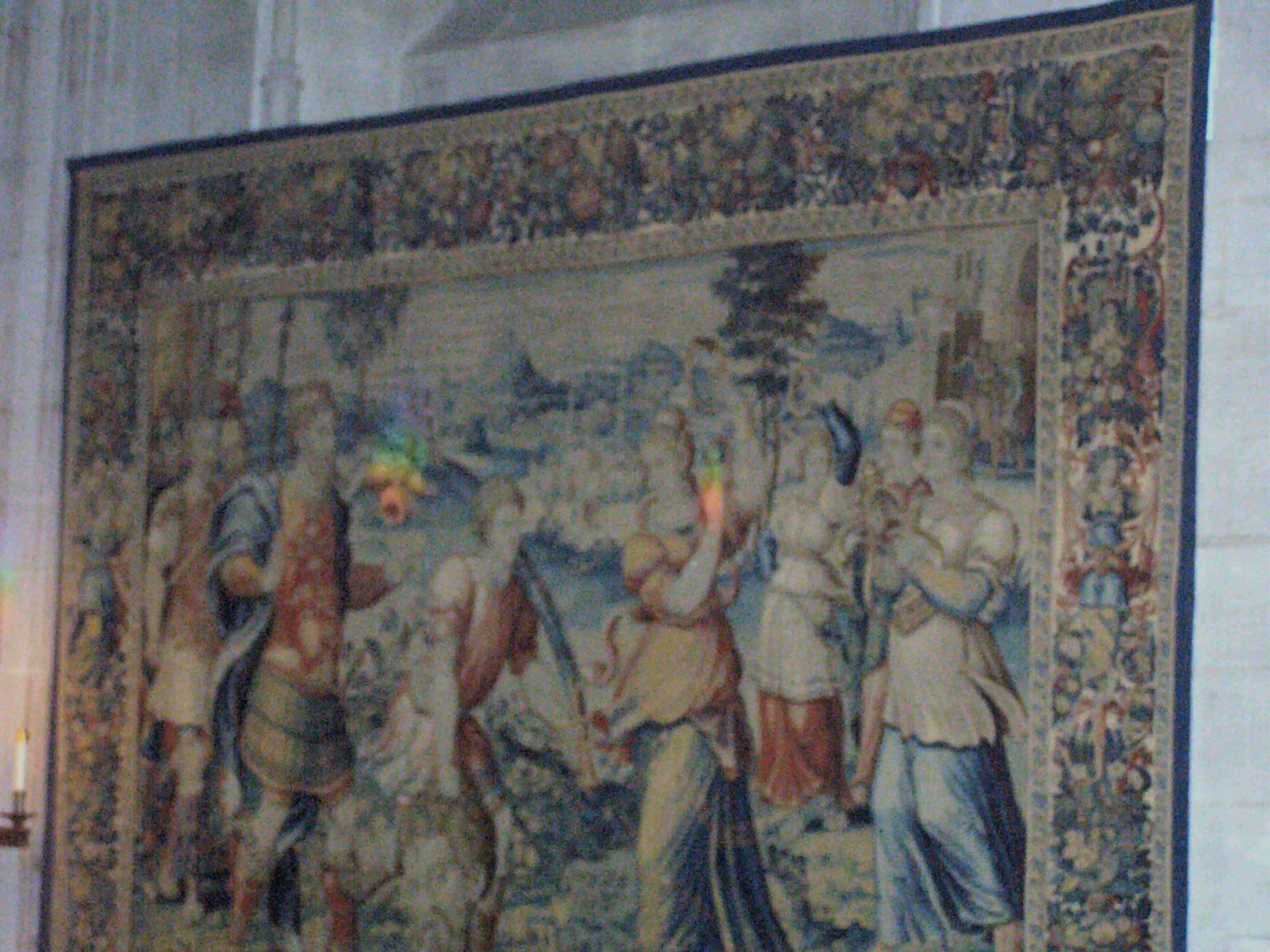 1 of 6 Tapestries (over 400 years old) given to Cathedral by Larz and Isabel Anderson who funded St. Mary's Chapel