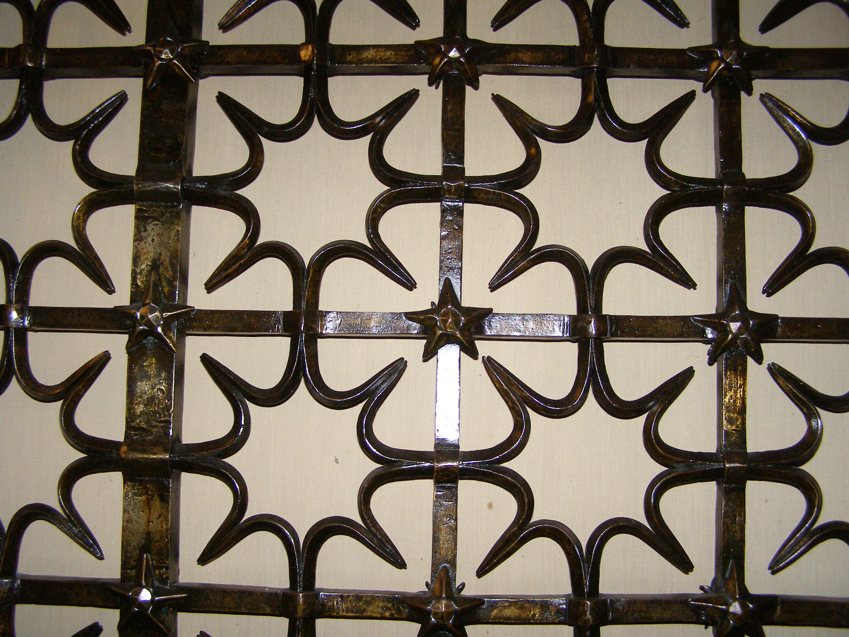 St Mary's Chapel Grille by Samuel Yellin 1933 Quatrefoil with 5 pointed star