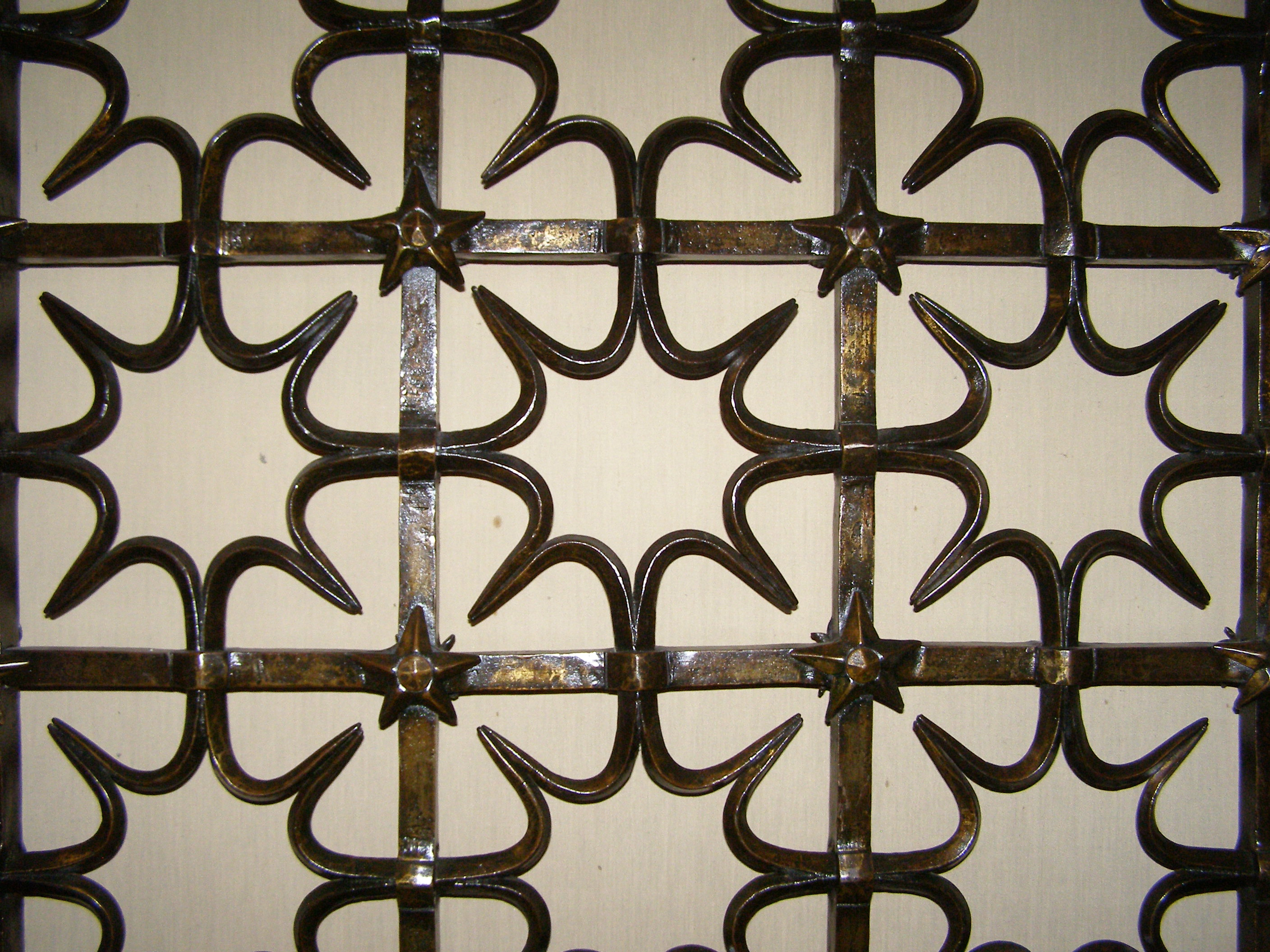 St Mary's Chapel Grille by Samuel Yellin 1933 Sunburst space between Quatrefoils
